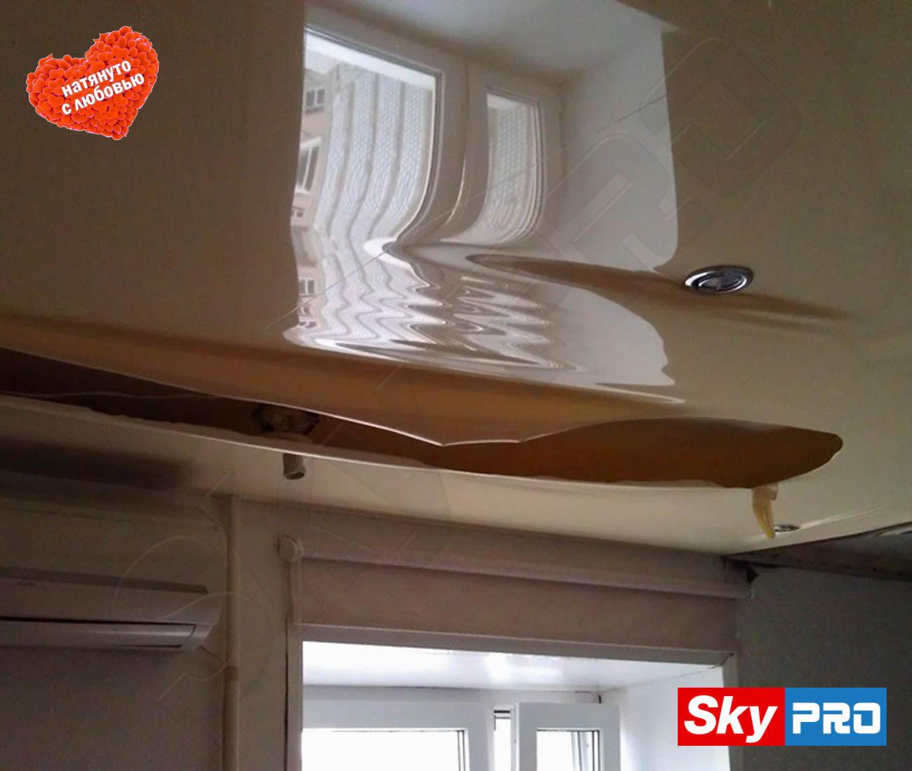 Ремонт пореза на натяжном потолке - Невадо 78