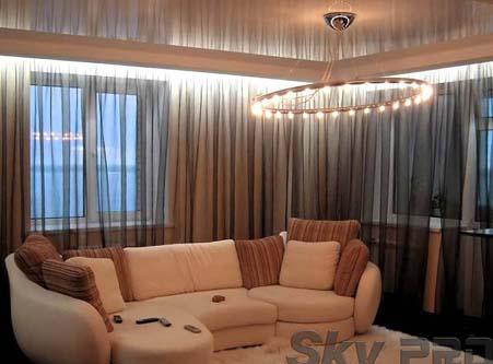 Парящие гардины с светодиодной подсветкой